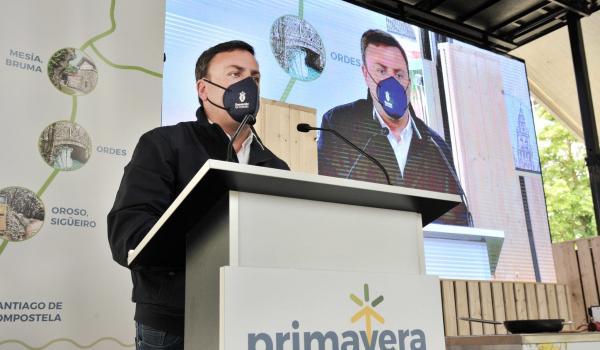 O presidente, González Formoso, durante a súa presentación na feira
