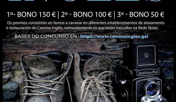Cartel do primeiro concurso de fotografía dixital do Camiño Inglés