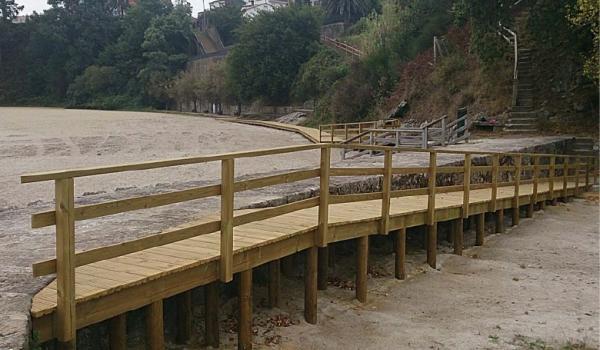 Mellora da accesibilidade nas praias Tanxil e Quenxo, en Rianxo