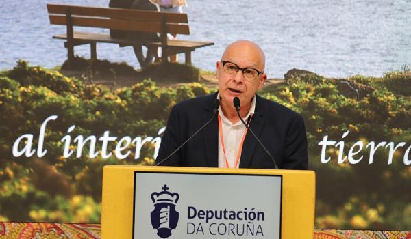 Xosé Regueira, vicepresidente e deputado de Turismo, durante a presentación do Proxecto do Cabo Ortegal
