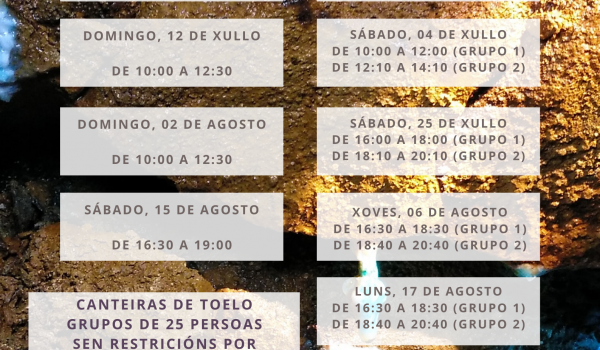 Calendario das Rutas Xeolóxicas en Moeche